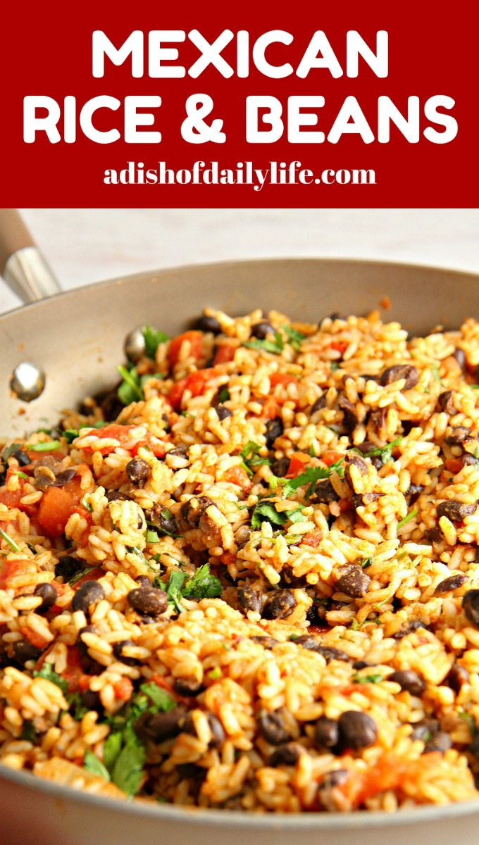 Mexican Rice and Beans...an easy versatile vegetarian dish! Use it as ...