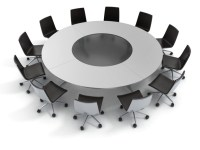 round table, diplomacy, conference, meeting 3d concept