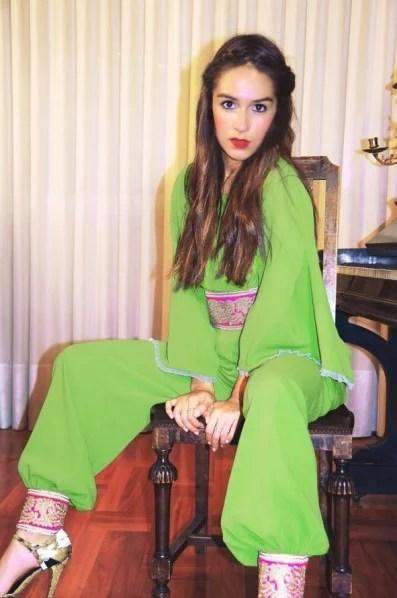 conjunto verde pant arabe bordado buganvilla 2