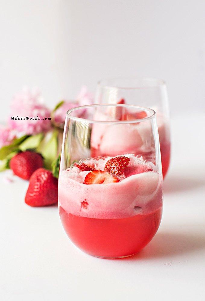 Easy Strawberry Sorbet Float Recipe