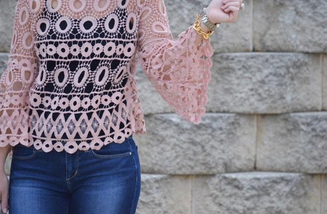 Pink Lace with SheIn