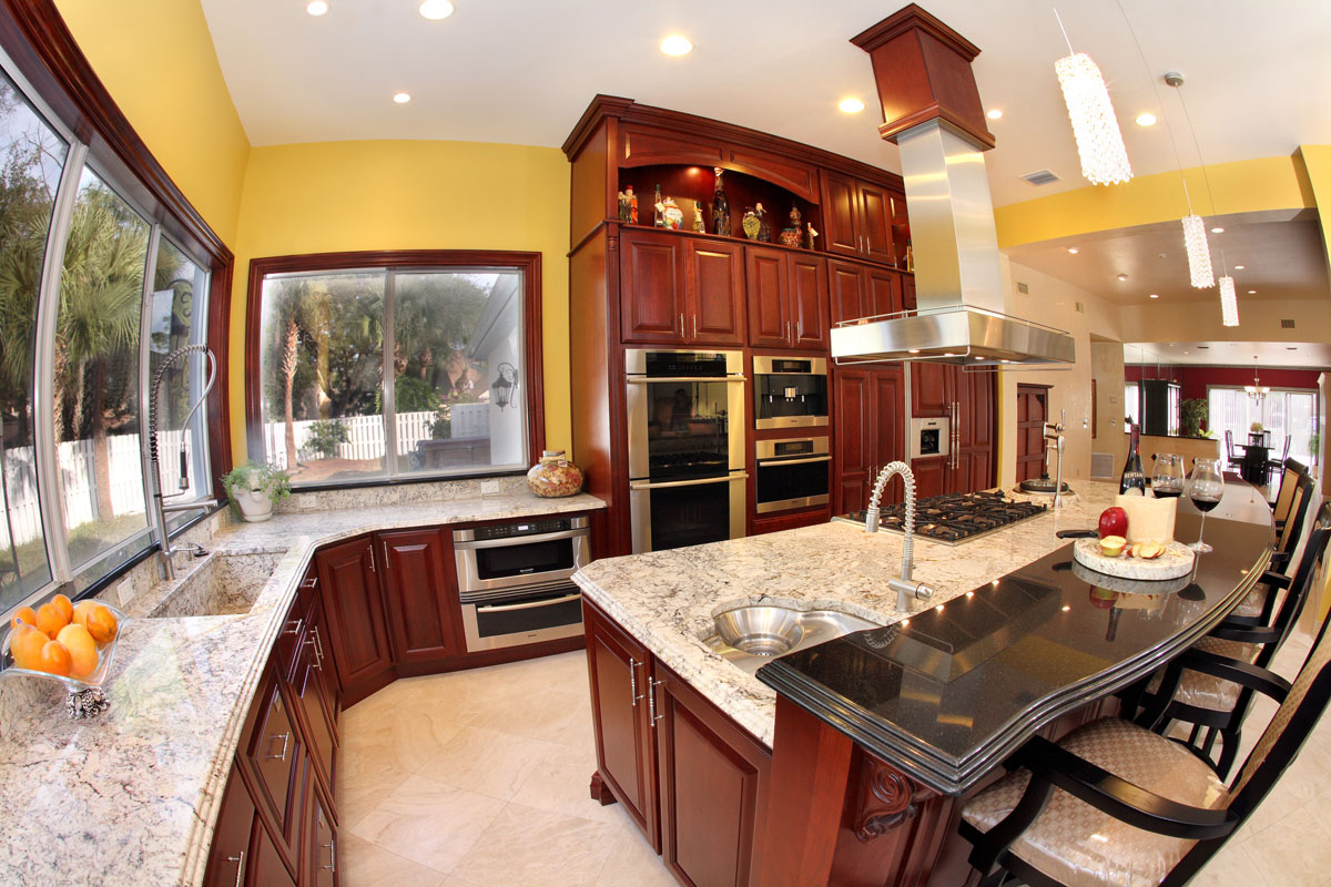 granite granite countertops kitchen Orlando Granite Kitchen Countertop with Stepped Edge Profile by ADP Surfaces in Orlando Florida