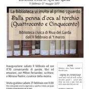 Libri per la città. I libri per Riva del Garda