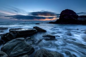 Porth Y Post Sunset Rays