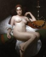 "Heather's Reverie, ©2009 By Adrian Gottlieb Oil on Belgian Linen Size: 24"" x 18"" WATERHOUSE GALLERY Santa Barbara, CA 93101 SOLD: Collection of Mark Nylen"
