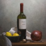 "Still Life with Wine and Onion, ©2010 by Adrian Gottlieb Oil on Belgian Linen Size: 16"" x 20""  S. R. BRENNEN GALLERIES SOLD"