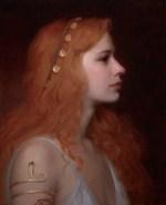 Seeress, ©2013 By Adrian Gottlieb Oil on Belgian Linen Size: 16″ x 20″.  S.R. Brennen Gallery SOLD