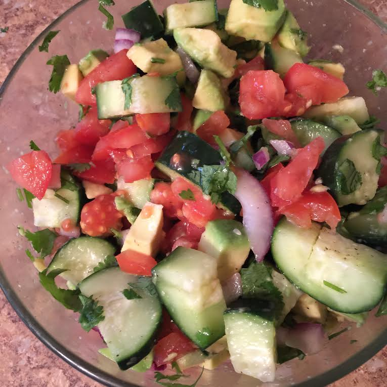 Pan Seared Salmon & Avacado Salad - Adrienne M Nixon