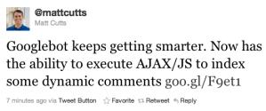 Google Indexando contenido AJAX vía POST Requests: Facebook y Disqus