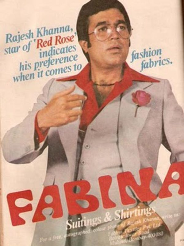 rajesh khanna in suitings ad