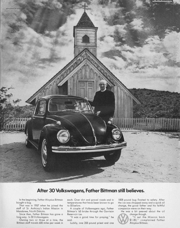 Ad of Yore: Volkswagen print advertisement from a 1969 Look magazine
