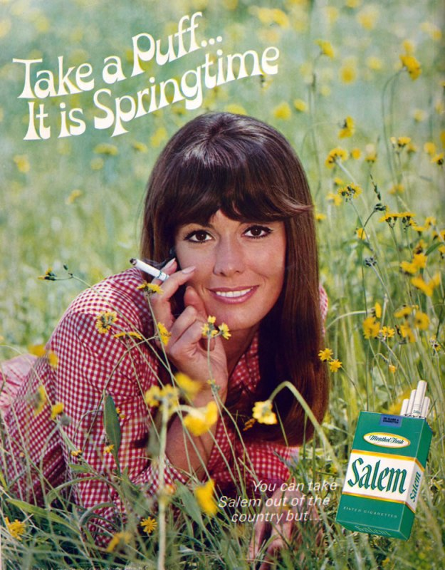Ad of Yore: Salem full-page back cover print advertisement from a 1969 Look magazine