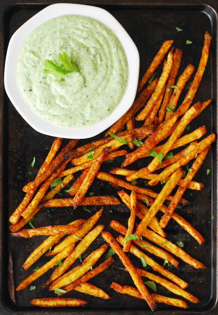 Crispy Salt And Pepper Oven Fries With Curry Dipping Sauce ...
