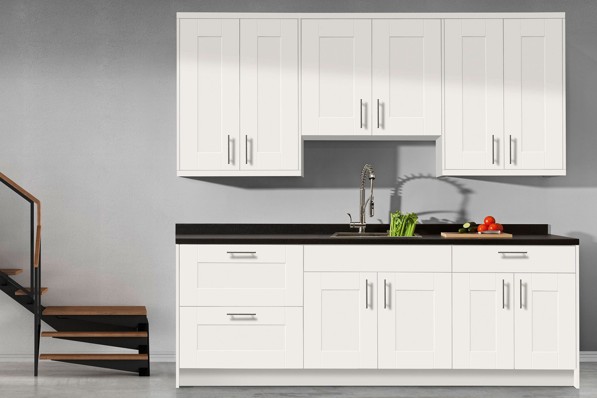 stock kitchen cabinets stock kitchen cabinets bianca white shaker kitchen cabinets in stock