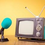 stock retro televisie aankondiging