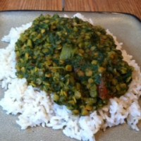Creamy Spinach Lentil Curry