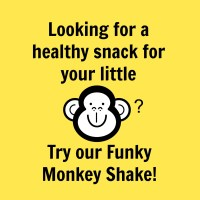 Funky Monkey Shake- a healthier alternative to a milkshake
