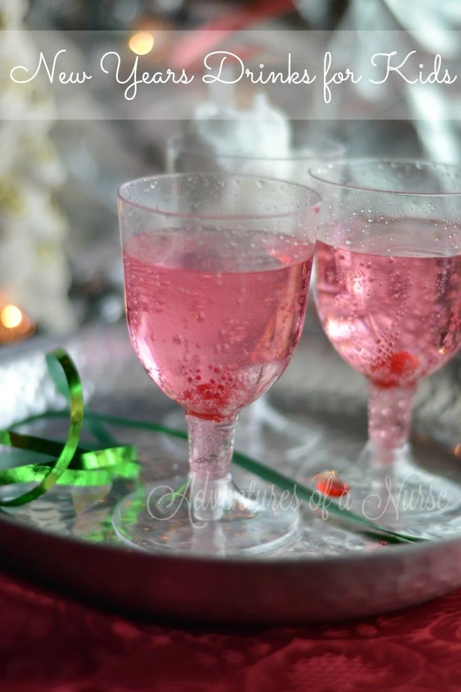 Cotton Candy New Years Drinks for Kids