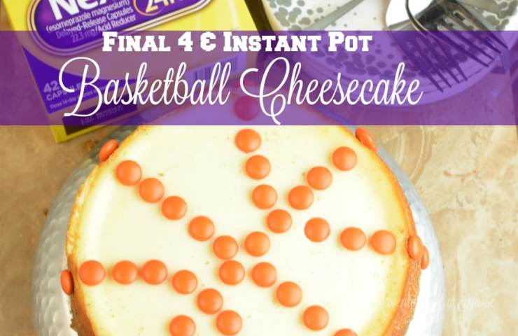 Final Games Instant Pot Basket Ball cheesecake