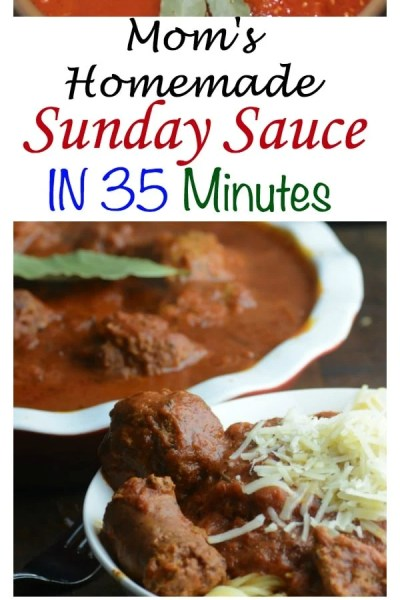 Mom's Sunday Sauce in 35 minutes