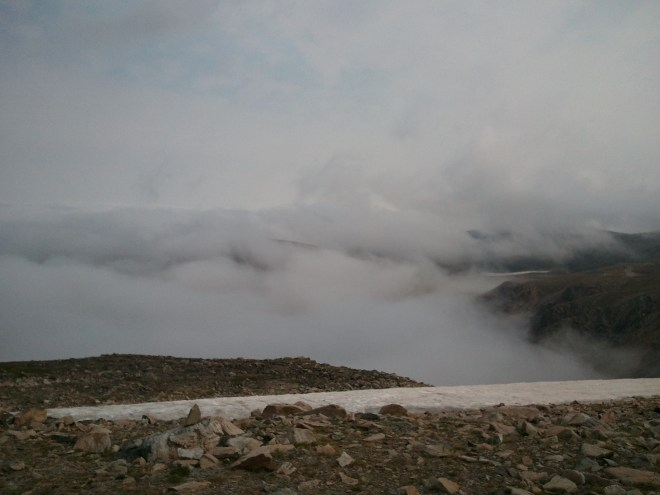 Above the clouds at Beartooth Pass.