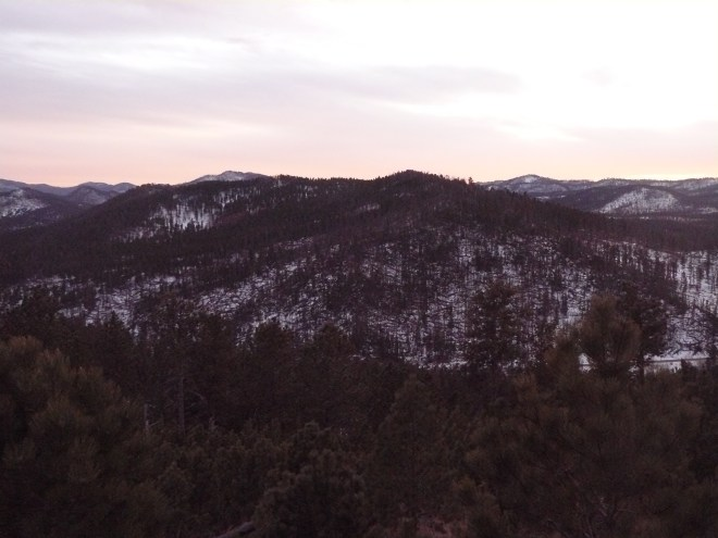 Smith Mountain from the S slope of Lowden Mountain just after sunset.