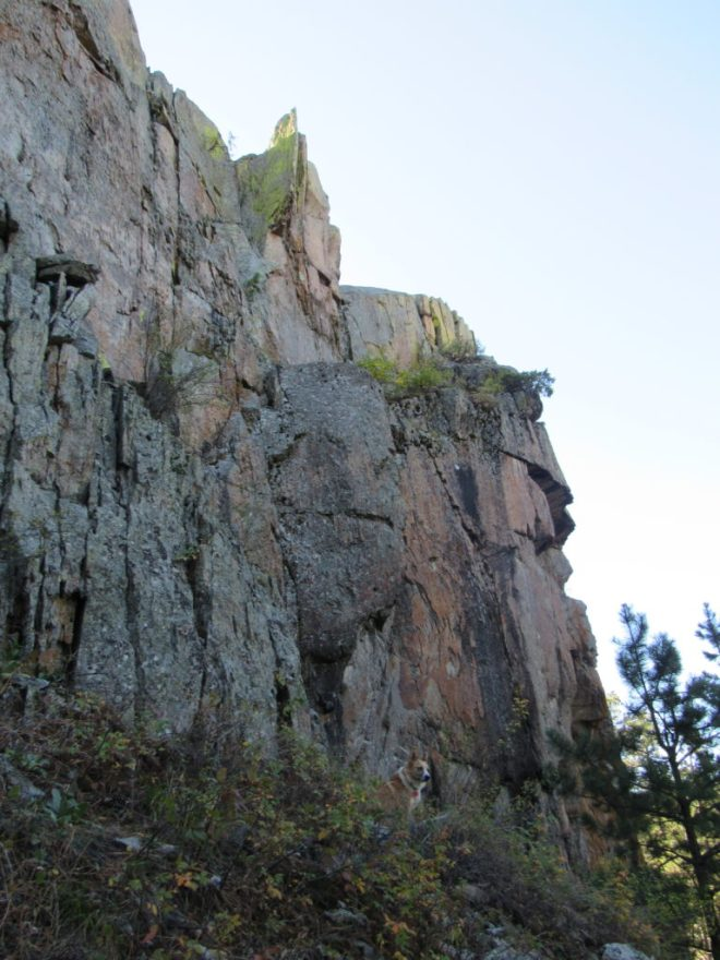 Lupe below the N face of Citadel Rock.