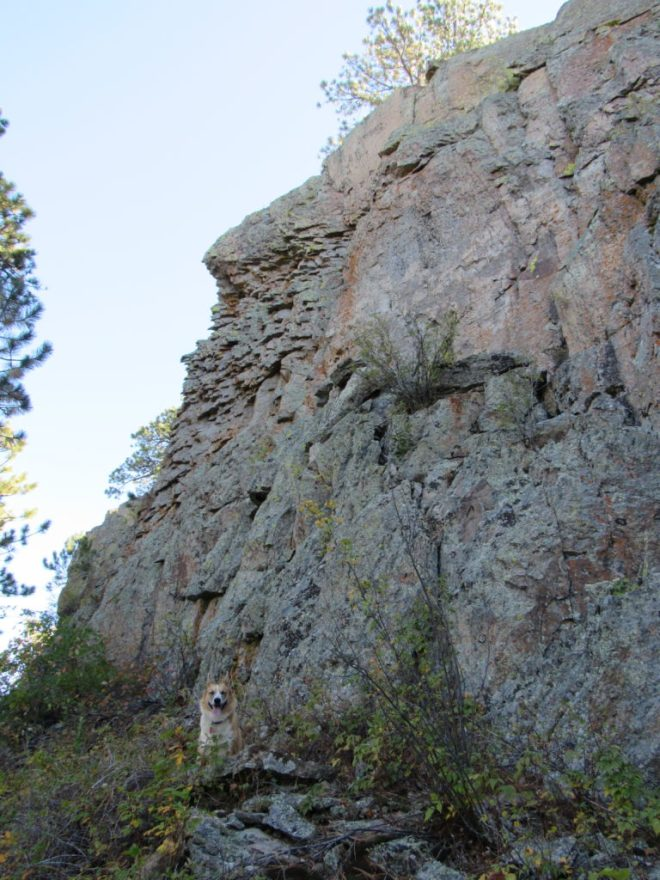The N face of Citadel Rock was even higher and more vertical than the S face.