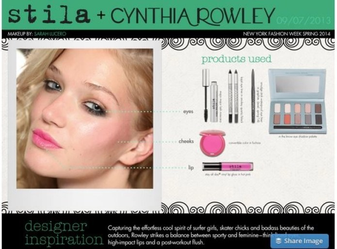 stila and Cyntha Rowyley designer inspiration
