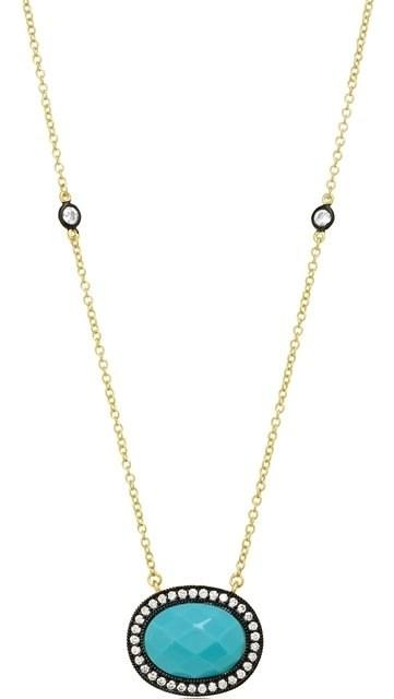 Freida Rothman Turquoise Pave Radiance Pendant