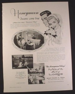 this magazine ad from 1958 promoised honeymoon dreams