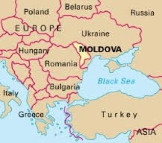 map showing moldova