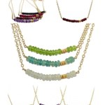 Isabelle Grace Gemstone Bar Necklaces $120