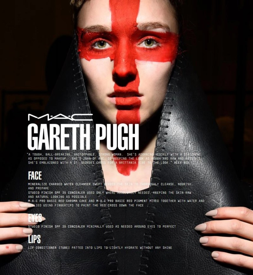 mac face chart gareth pugh