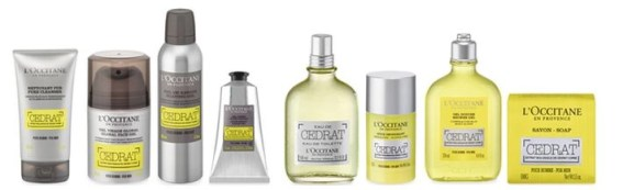 the Cedrat lineup of products from L'OCCITANE