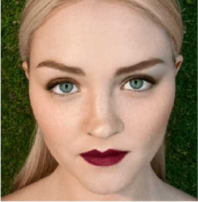 face stockholm Noorland Vibrations look #3 featuring HERO lipstick