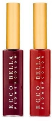 ecco bella red and puple lip gloss