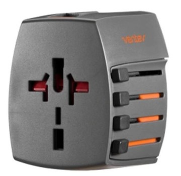 Ventev Global Charginghub 300 with 4 AC Prong Configurations with 2 USB Ports