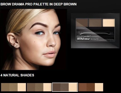 brow drama palette maybelline