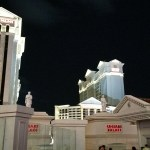 a view of Caesars Palace hotel in Las Vegas