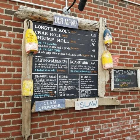 lukes lobster menu in brooklyn bridge park