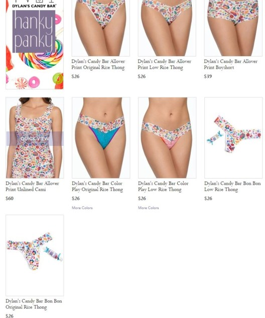 dylans candy bar hanky panky collection
