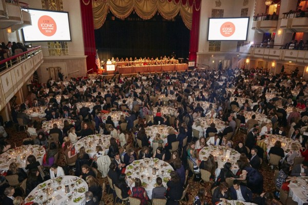 a view of the 2016 CEW Beauty Awards wards Luncheon in NYC
