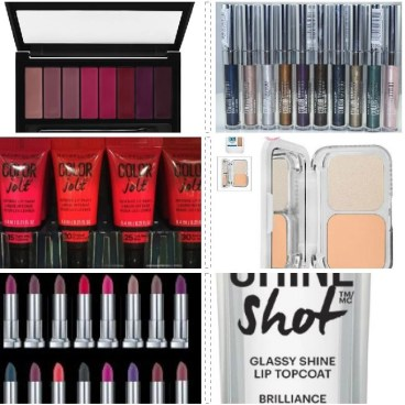 maybelline collage of Fall 2016 products beauty