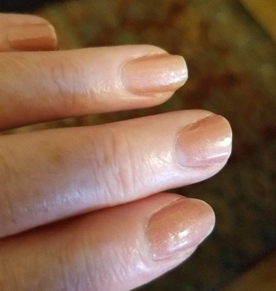 my nails after one week with UNO by Gelish Mini