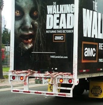 semi-truck guerrilla marketing