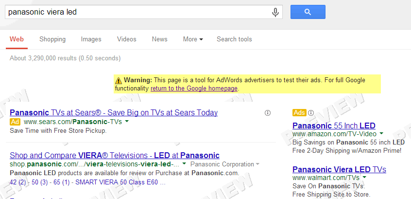 Adwords ad extensions not showing in the Ad Preview Tool