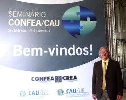 Presidente Engenheiro Nilton Seminário CONFEA CAU Brasília 2014