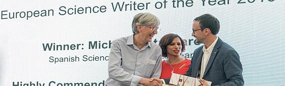 Michele Catanzaro european science writer of the year 2016 560
