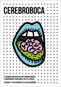 Cartel del evento profesional CerebroBoca, organizado por la AECC y la Casa Encendida. Será el 5 y 6 de octubre de 2017 en Madrid.